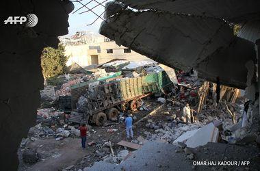 СМИ обнародовали фото обстрелянного в Сирии гумконвоя ООН