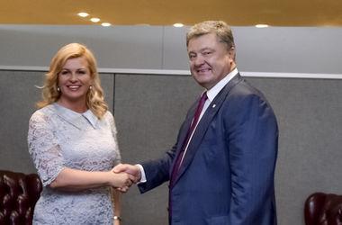 Порошенко провел встречу с президентом Хорватии