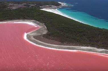 Австралиец снял розовое озеро с высоты птичьего полета