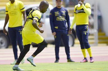 Футболиста сборной Эквадора пытались арестовать на тренировке за неуплату алиментов