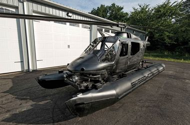 Видеошок: вертолет превратили в гоночный болид-амфибию