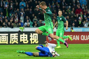 Отбор на ЧМ-2018: Словения - Словакия - 1:0, обзор матча