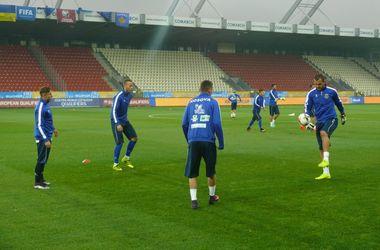 Тренировка сборной Косово перед матчем с Украиной