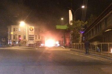 В Одессе авто влетело в АЗС: появилось эффектное видео