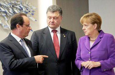 """Порошенко, Олланд и Меркель без Путина согласовали дату встречи в """"нормандском формате"""""""