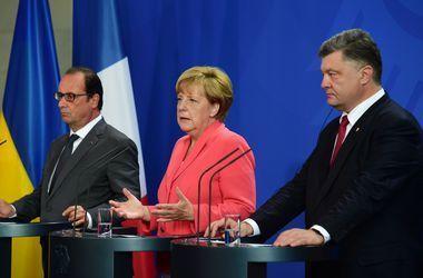 Перед встречей с Путиным Олланд, Меркель и Порошенко проведут еще одни переговоры