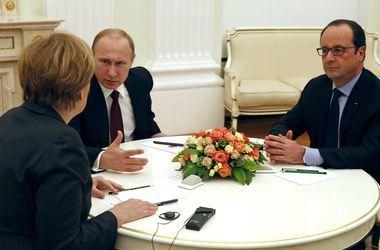 Олланд рассказал, о чем он вместе с Меркель сегодня намерен попросить Путина
