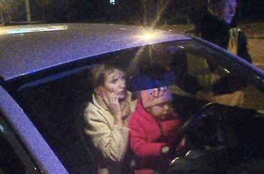 В Киеве пьяная горе-мать попала в аварию с детьми