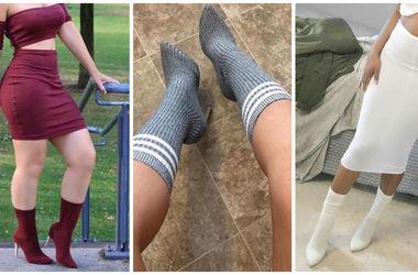 Будь в тренде: блогеры надевают носки поверх туфель на каблуках (фото)