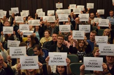 В Польше на фестивале украинского кино прошла акция в поддержку Сенцова