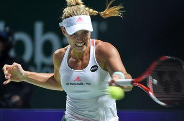 Ангелик Кербер выиграла второй матч Итогового чемпионата WTA