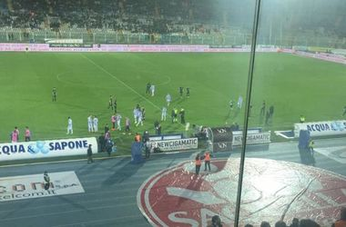 Match of the Italian championship was suspended because of the earthquake