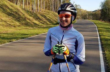Biathlete Darya Domracheva began training after the birth of her daughter