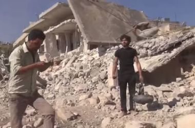 There was a video in Syria bombed schools, killing children