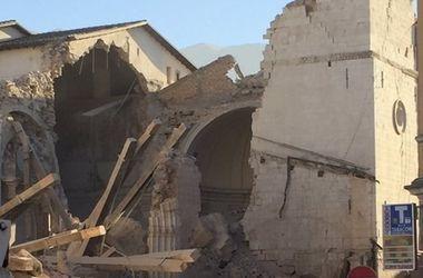Появилось видео мощного землетрясения в Италии