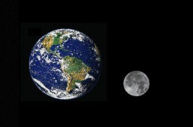Опрокидывание Луны на орбите Земли показали на видео