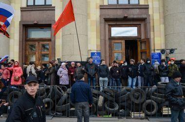 Один из захватчиков Харьковской ОГА пытался бежать в Россию