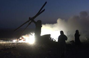 Появилось видео обстрела российского вертолета в Сирии