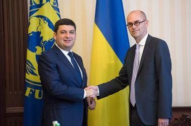 Гройсман обсудил с руководителем миссии МВФ ход реформ в Украине