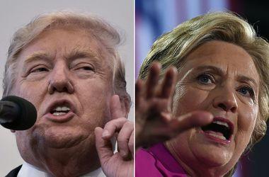 Отрыв Клинтон от Трампа сократился - опрос