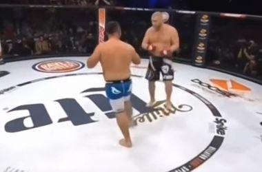 Российский боец тяжелым нокаутом на 17-й секунде проиграл дебютный бой в Bellator