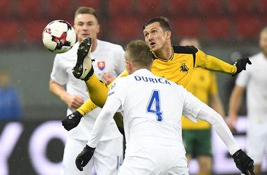 ЧМ-2018: сборная Словакии разгромила дома Литву