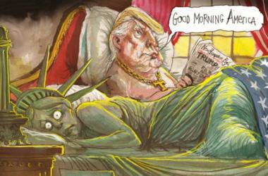 Победа Трампа глазами карикатуристов со всего света