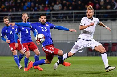 Отбор на ЧМ-2018: Лихтенштейн - Италия - 0:4, обзор матча