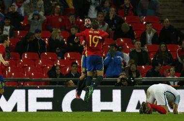 Испания пропустила два гола от Англии впервые с 2001 года