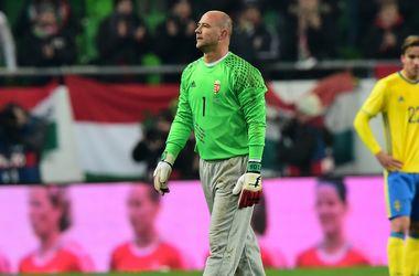 Знаменитый вратарь в штанах провел последний матч за сборную Венгрии