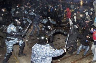 """Беркут"" атакует активистов Евромайдана. Фото: AFP"