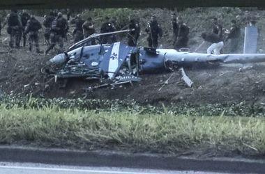 В Бразилии разбился полицейский вертолет