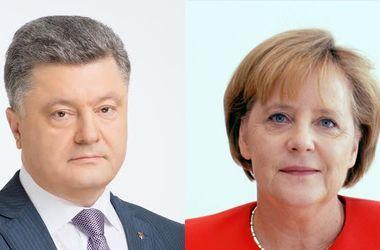 """Порошенко и Меркель договорились о встрече """"Нормандской четверки"""""""