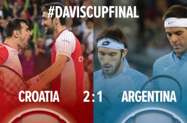 Сборная Хорватии вышла вперед в финале Кубка Дэвиса