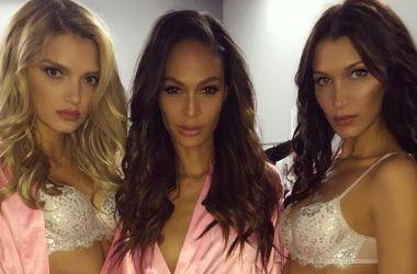 Модели Victoria's Secret после шоу отъедались бургерами и картошкой фри (видео)