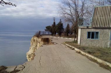 Блогер показал грандиозный обвал в Крыму