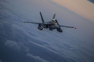In Japan, crashed fighter F/A-18 marine corps USA