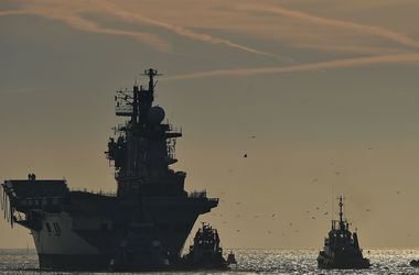 The last British aircraft carrier sailing to be scrapped