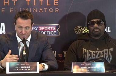 Boxer Derek Chisora threw in the opponent's table