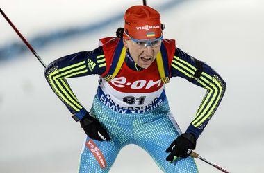 Пидгрушная заняла 15-е место в спринтерской гонке на Кубке мира по биатлону