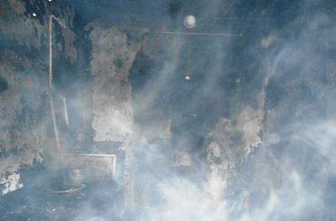 Dans la région de Jitomir une femme détruite par les flammes