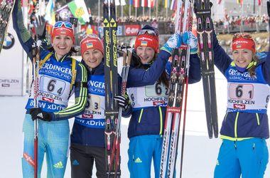 Украинки заняли третье место в эстафете на Кубке мира по биатлону