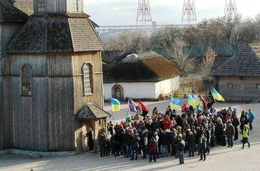 Запорожские студенты провели очередной флешмоб на Хортице