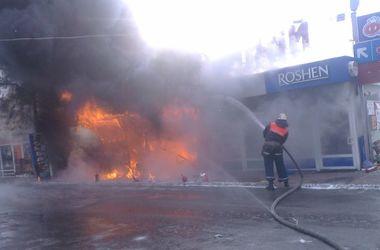 Под Киевом горел рынок