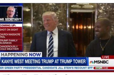 """Дональд Трамп встретился с Канье Уэстом обсудить """"жизнь"""""""