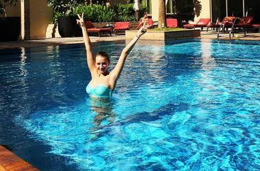 Гимнастка Валерия Гудым в отпуске радует болельщиков фото в бикини