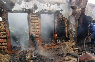 На Прикарпатье во время пожара погиб мужчина