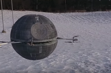 """Как выглядит дрон в виде корабля из """"Звездных войн"""""""