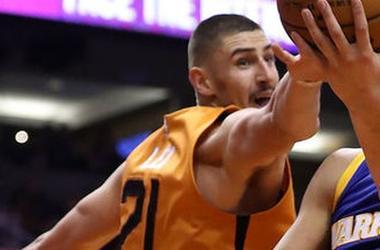 Украинец Алексей Лэнь набрал 8 очков в очередном матче НБА