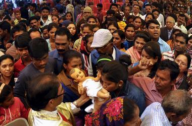 В Индии в давке пострадали 40 паломников